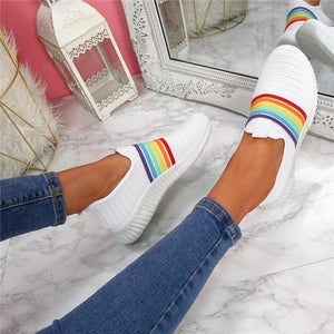 2020 Women's Breathable Colorful Mesh Flat Walking Casual Arch Support Sock Sneakers [HOT SALE: Pay 2 Get 3]