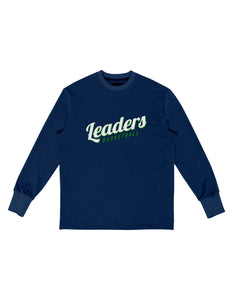 "LONG SLEEVE ""LOGO"" T-SHIRT - (NAVY)"