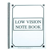 Low Vision Spiral Notebook