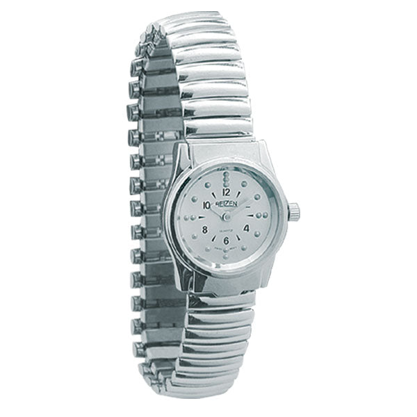 Braille Womens Watch -Chrome, Expansion Band