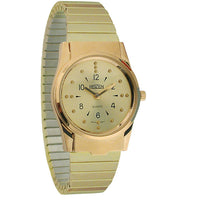 Mens Braille Watch -GoldTone, Expansion Band