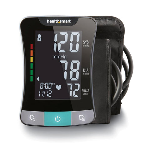 HealthSmart Talking Upper Arm Blood Pressure Monitor - English+Spanish