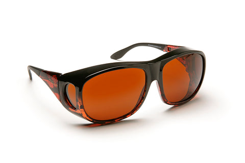 Solar Shield Glasses, Amber, Large