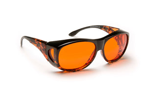 Solar Shield Glasses, Orange, Medium