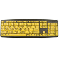 Keys-U-See Large Print Keyboard - Yellow Keys with Black Print