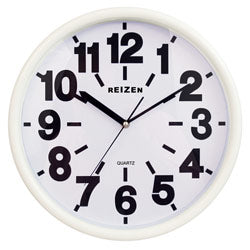 Low Vision Quartz Wall Clock - White Face, Black #