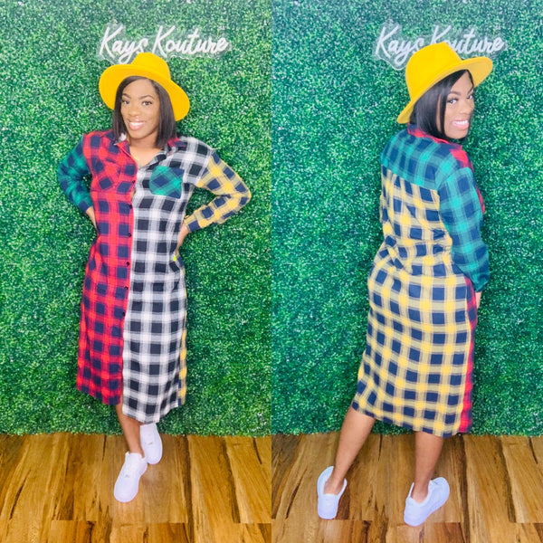Plaid Flannel Dress