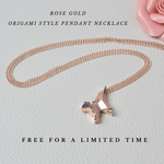 FREE Rose Gold Oragomi Style Pendant Necklace! For A Limited Time Only!