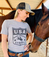 "USA ""Make America Cowboy"" Premium T-Shirt"