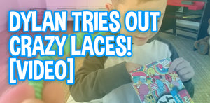 Dylan Tries Out My Silly Feet Crazy Laces! Review and How to Use Lennon and Elle's No-tie Shoelaces [VIDEO]