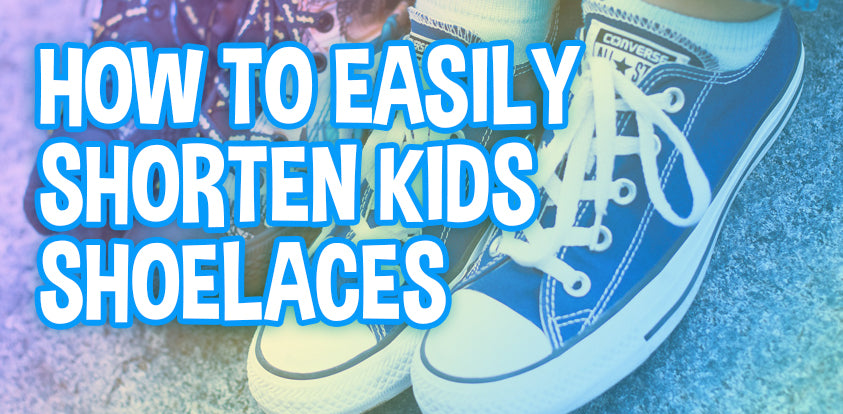 How to shorten kids shoes shoe laces