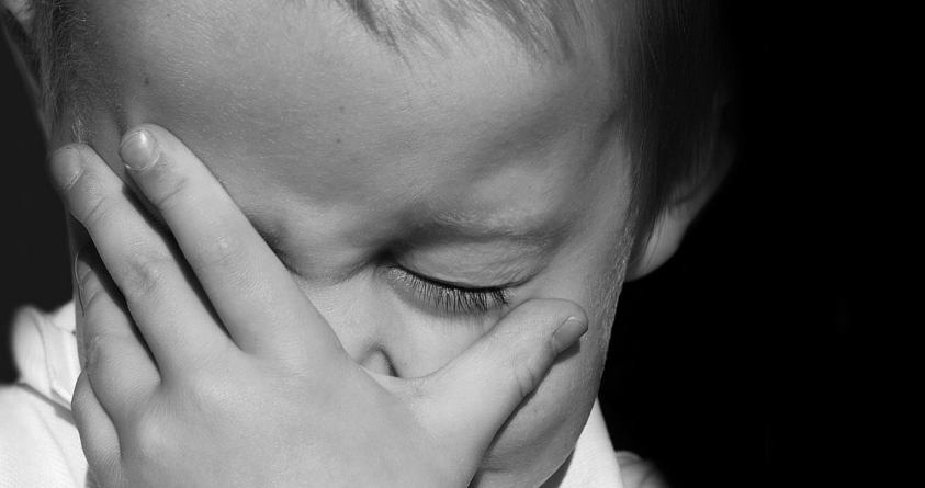 Kid Safety Horror Stories kid crying black and white