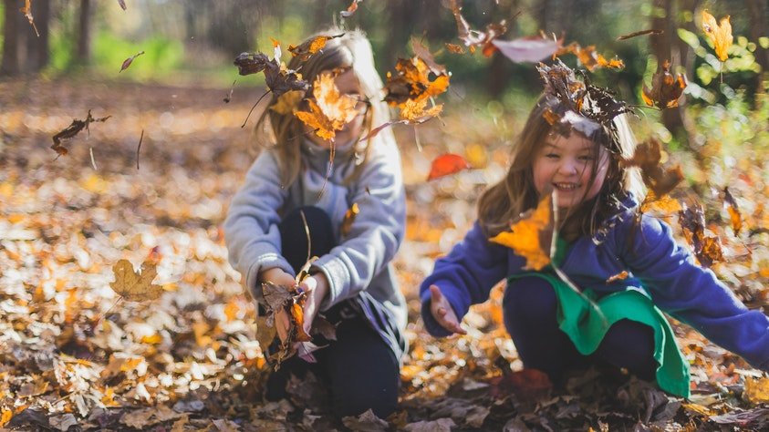 How To Help Your Child Make Friends and Keep Them children and leaves