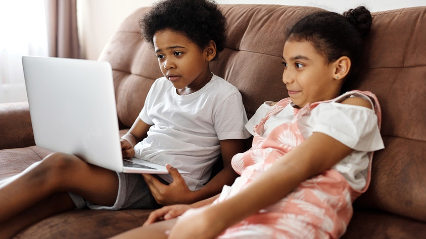 Are Video Games A Good Thing For Kids? Screen Time VS. Outside Time! laptop siblings