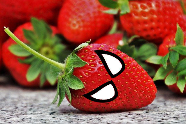 spiderman strawberry healthy kids snack
