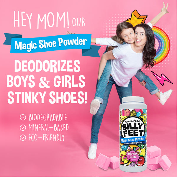 Magic Shoe Deodorizer Powder - Bubble Gum Scent