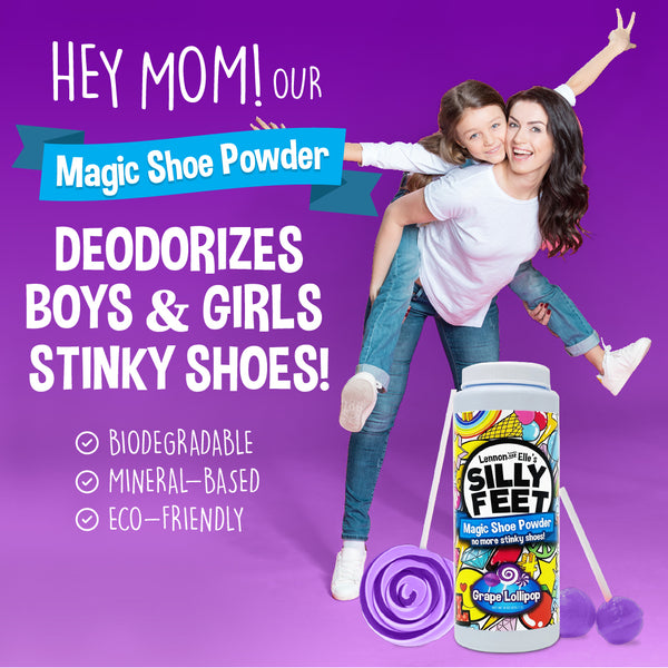 Magic Shoe Deodorizer Powder - Grape Scent