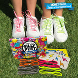 "Reflective Kids Shoe Laces Safety Shoelaces for Children Neon Lace Strings 40"" Inches"