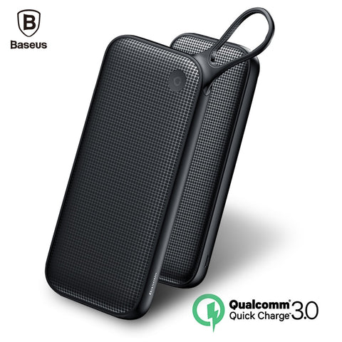Baseus 20000mAh Power Bank For iPhone X 8 7 Samsung S9 S8 Plus PD Fast Charger + Dual QC3.0 USB Fast Charging Powerbank