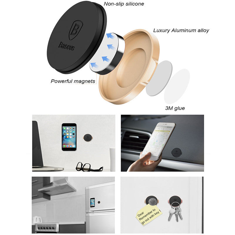 Baseus Universal Car Holder For iPhone 8 7 Air Vent Mount Magnetic Car Phone Holder Stand For Samsung S8 GPS Bracket Phone Stand