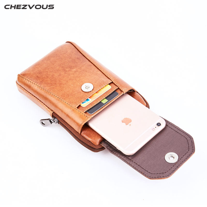 Belt Clip Cover Case for iPhone 7 8 6 plus X 5s Mobile Phone Bag for Huawei P9 P8 Lite Men Waist Packs Belt Pouch 6.0''