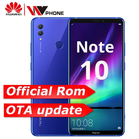 Huawei Honor Note 10 Kirin 970 Octa core Mobile Phone Dual SIM 6.95 inch Android 8.1 Fingerprint ID NFC 5000mAh battery