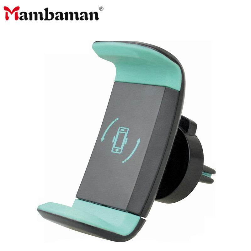 Mambaman Car Phone Holder for iPhone 8 X Air Vent Mount Holder 360 Degree Mobile Phone Holder for Samsung Xiaomi Holder Stand