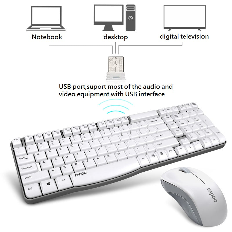 Rapoo X1800S Wireless Keyboard&Mouse Combos With Waterproof for Computer Home Office PC laptop desktop