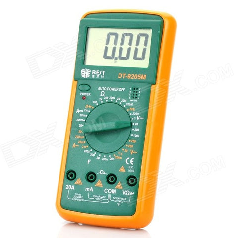 "BEST DT-9205M 2.8"" LCD Handheld Digital Multimeter (1*9V/6F22)"