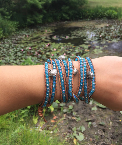 Heart Sequined Wrap Bracelet