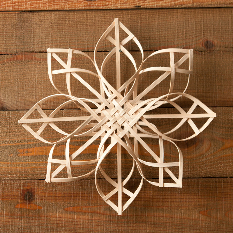 Handwoven Snowflake - 12 inches, Augusta