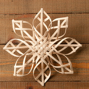 Handwoven Snowflake - 9 inches, Augusta