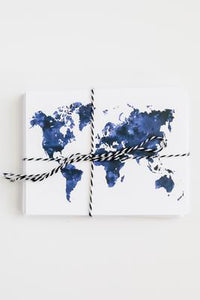 World Map Note Card Set