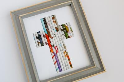 Framed Rolled Cross