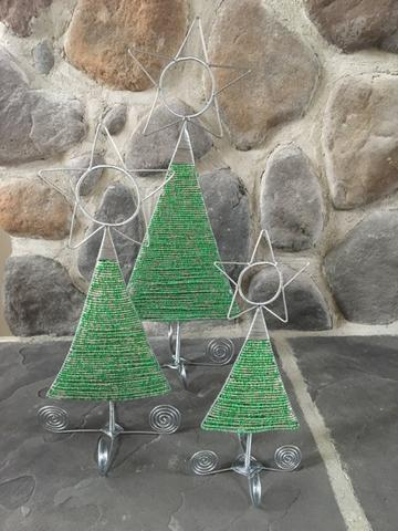 Christmas Trees - Beaded, Tabletop