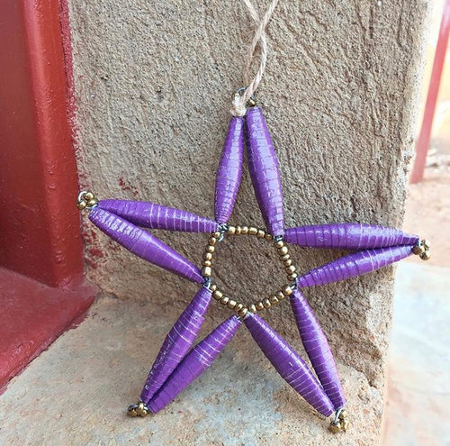 Paper Bead Star Ornament