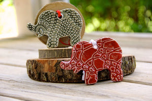 Roll Tide Elephant Ornament