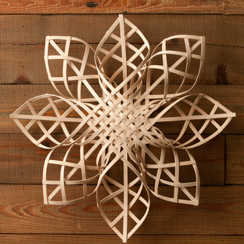 Handwoven Snowflake - 20 inches, Adrian