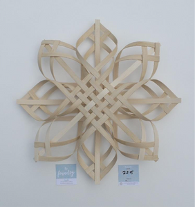 Handwoven Snowflake - 22 inches, Foundry