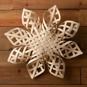 Handwoven Snowflake - 20 inches, Heirloom
