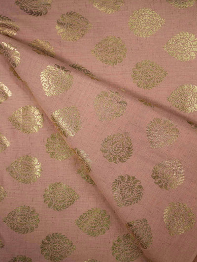 Cotton Khadi Block Printed Fabric