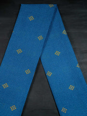 Blue Checkered Cotton Jacquard