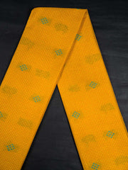 Mustard Checkered Cotton Jacquard