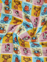 Cotton Muslin Silk Printed Fabric