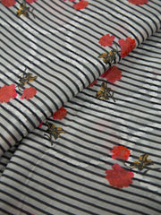 Cotton Schiffli Printed Fabric.
