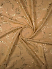 Cotton Gold Printed Fabric