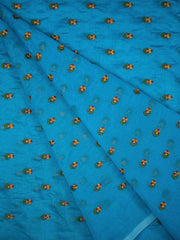 Chanderi Silk Embroidery Fabric