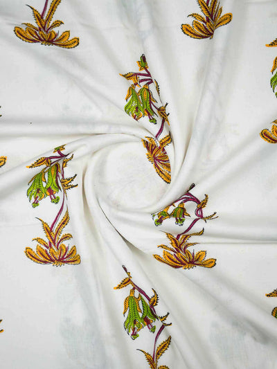 Soft Cotton Mughal Printed Fabric