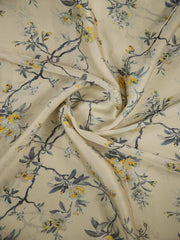 Floral Satin Georgette Fabric
