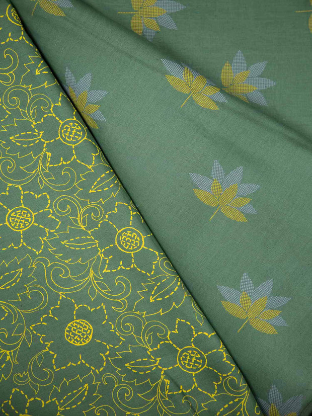 Mughal Cotton Printed Fabric (2 Pc Set)